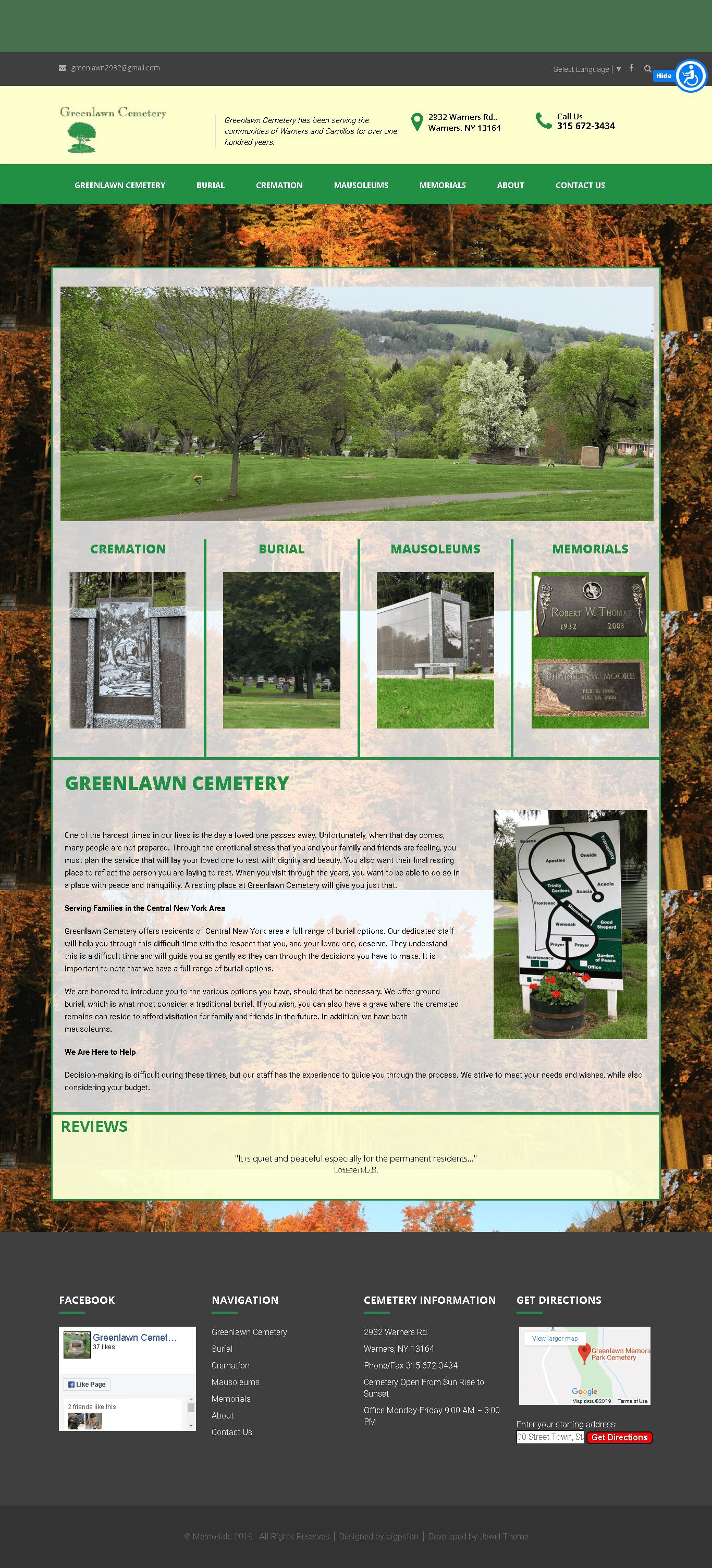 Greenlawn Cemetery Warners NY