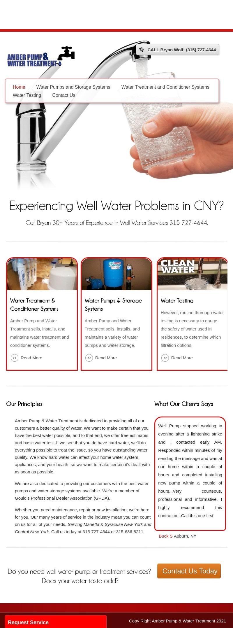 Amber Pump & Water Treatment Marietta NY 5iPad
