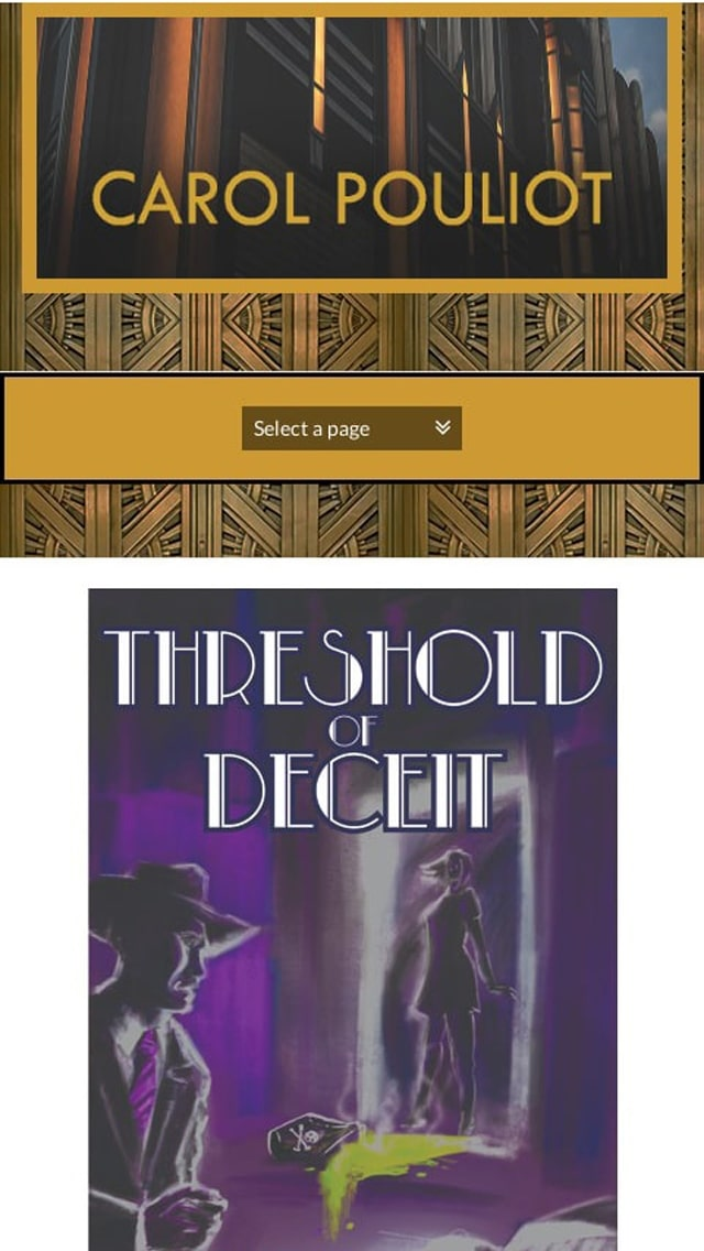 Threshold Of Deceit   Mystery Writer Carol Pouliot Author Phone