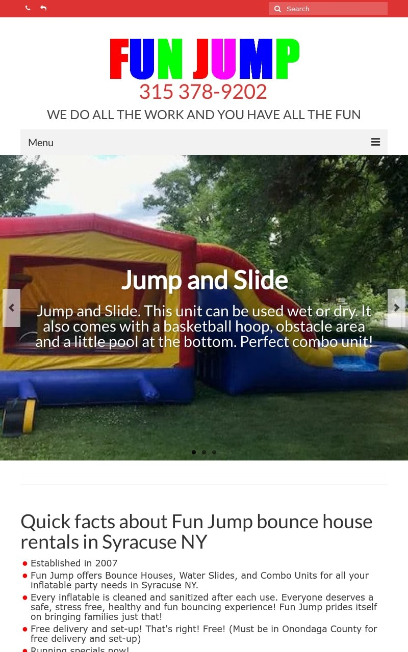 Fun Jump - Bounce House Rentals Syracuse NY ipad