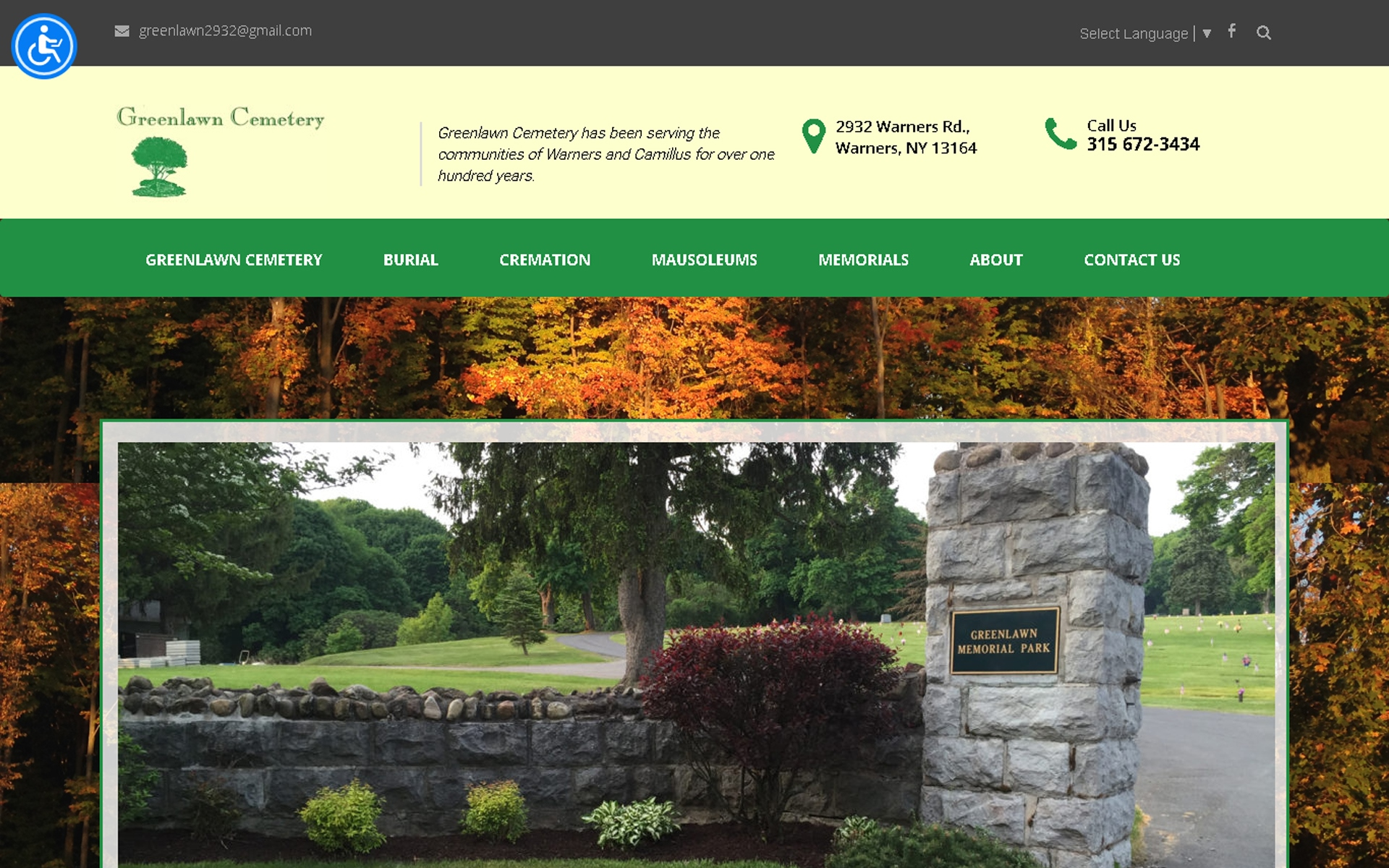 Greenlawn Cemetery - Servicing Warners, Syracuse NY - CNY Desktop