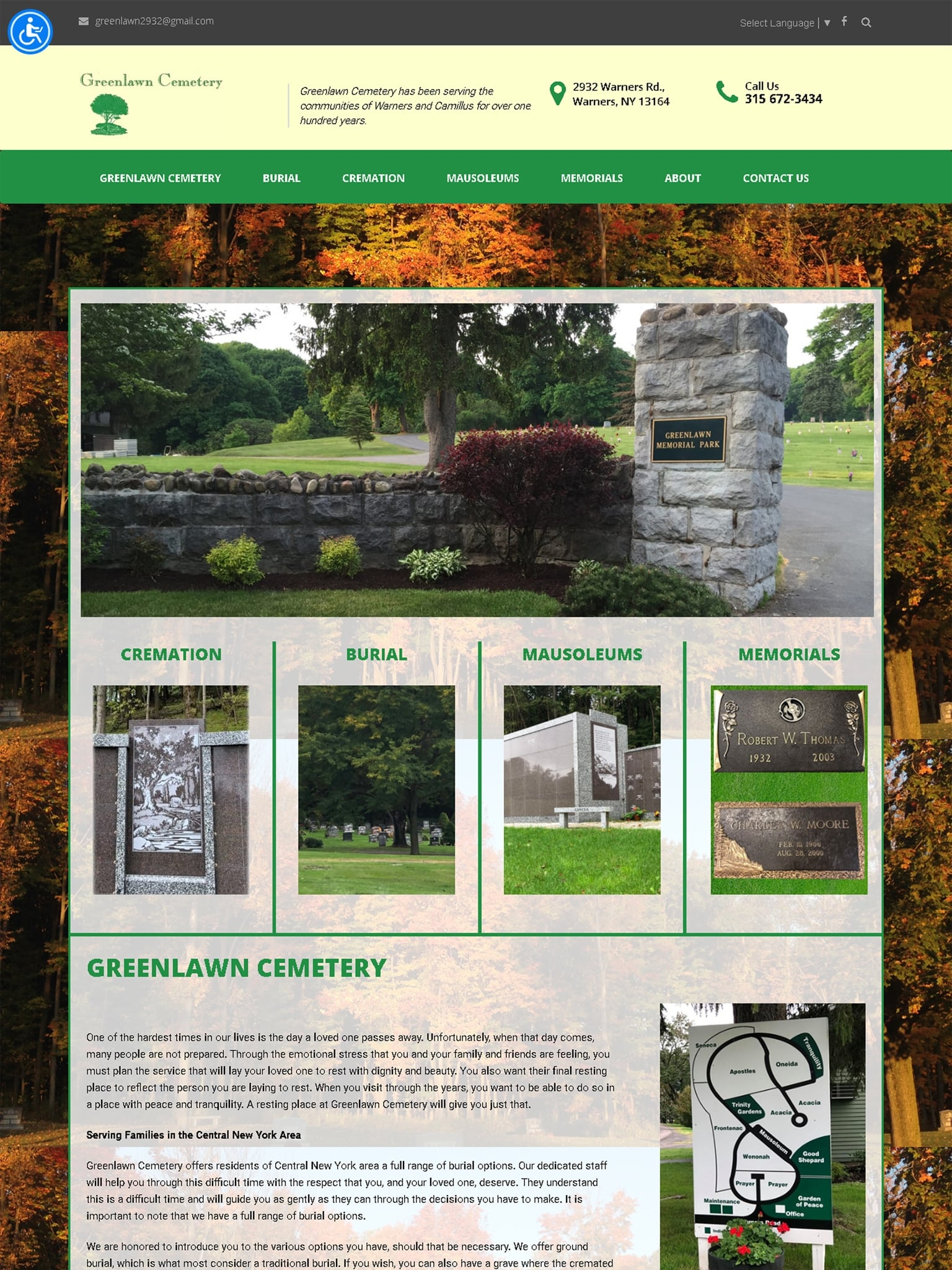 Greenlawn Cemetery - Servicing Warners, Syracuse NY - CNY iPad