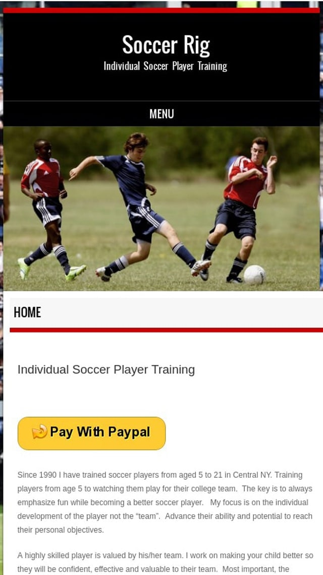 Looking for Individual Soccer Player Training?  Ellicott City Soccer Rig Phone