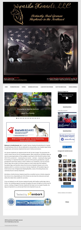 German Shepherd Breeders in New York VonSila Kennels desktop