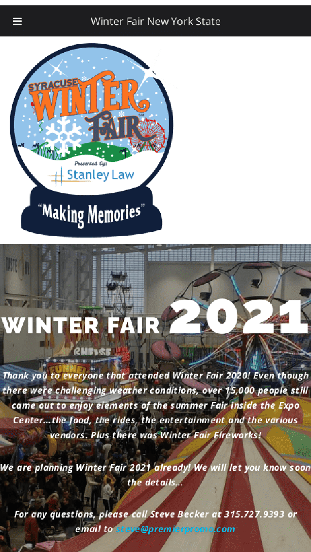 Winter Fair 2020 Syracuse New York State Fair Gounds Phone